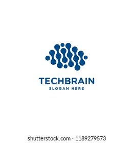 Brain logo. Brainstorming illustration. Artificial Intelligence Icon. Big data service