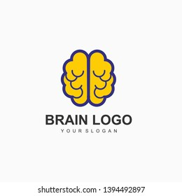 BRAIN LOGO DESIGN TEMPLATE VECTOR