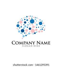 Brain Logo design vector template. Think idea concept. brain Logotype icon Logo.