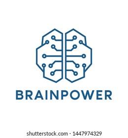 Brain logo, icon and template illustration