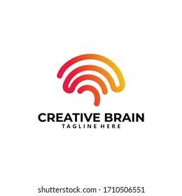 brain logo icon vector isolated