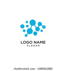 Brain Logo silhouette design vector template