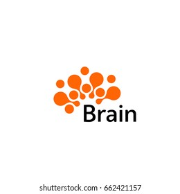 Brain Logo silhouette design vector template. Think idea concept.Brain storm power thinking brain Logotype icon