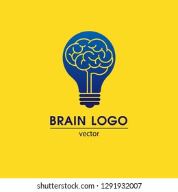 Brain Logo Template. Vector.