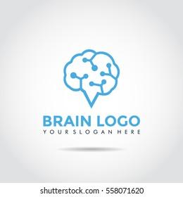 Brain Logo Template. Vector Illustrator eps.10