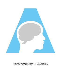 brain logo vector.
