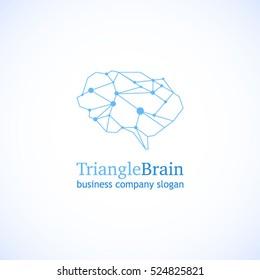 Brain Logo Vector Template.