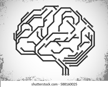 Brain made from digital circuit