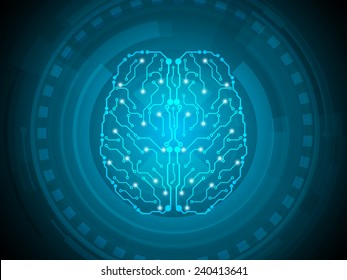 brain mechanical abstract technology background