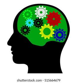 Brain mechanism vector illustration