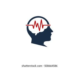 Brain Medic Brain Signal Logo Design Template