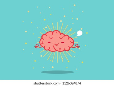 Brain Meditation .be peaceful concept. Mental health.
