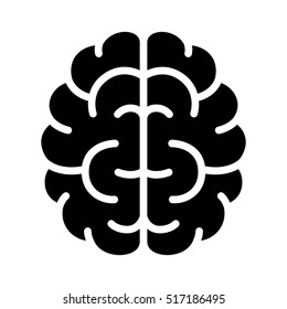 Brain, mind or intelligence flat icon for apps and websites