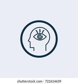Brain obsession icon