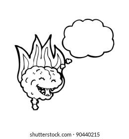 brain on fire cartoon