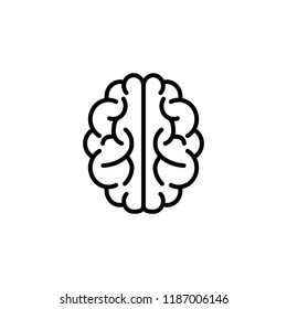 brain outlineicon line on white background