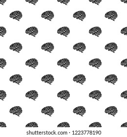 Brain pattern seamless repeat background for any web design
