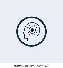Brain positive icon