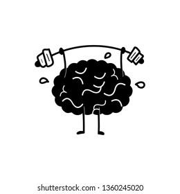 Brain power icon vector