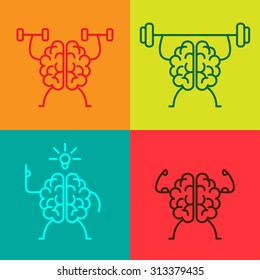 Brain power icons