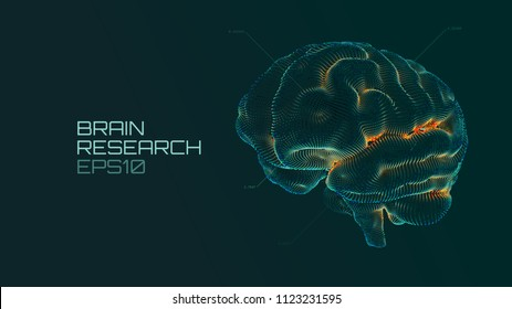Brain research futuristic medical ui. IQ testing, artificial intelligence virtual emulation science technology