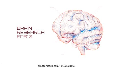 Brain research futuristic medical ui. IQ testing, artificial intelligence virtual emulation science technology