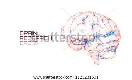 Brain research futuristic medical