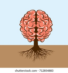 brain with roots