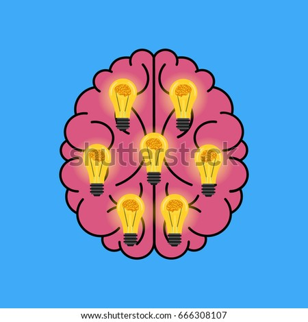 in Schematically Idea Arising Presented Form Stock Vector ... on