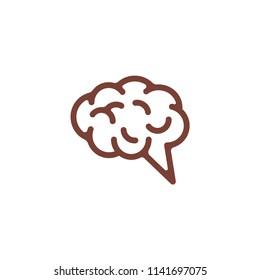 brain shape vector logo