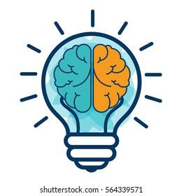 brain storm with bulb