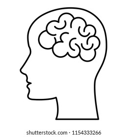 brain storming with head profile