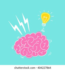 Brain storming vector illustration.