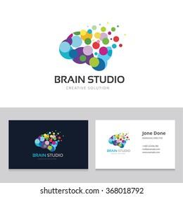 Brain Studio Logo and Business Card Template