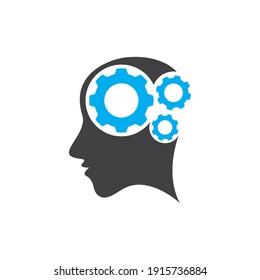 Brain tech logo images illustration design