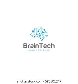 brain technology  logo icon vector template