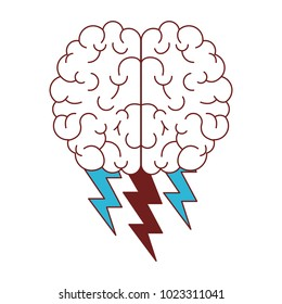 brain with thunders icon