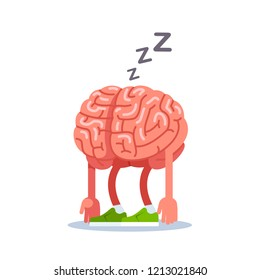 Brain is tired, rest. Modern flat style thin line vector illustration.