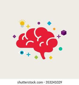 Brain training vector illustration