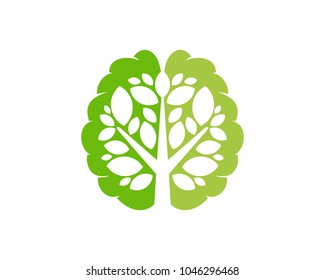 Brain Tree Icon Logo Design Element