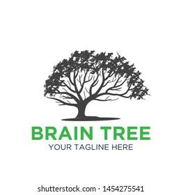 brain tree icon logo designs