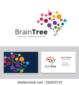 Brain Tree Logo Template.