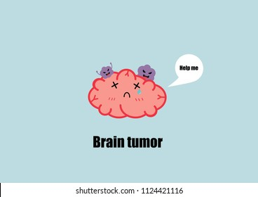 brain tumor cartoon vector. cancer cell concept.