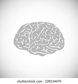 brain vector human symbol medicine illustration think, icon, mind