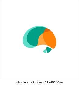 Brain vector icon or logo design