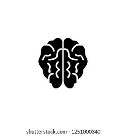 brain vector icon. brain sign on white background. brain icon for web and app