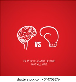 brain versus boxing illustrator education and thinking creative vector