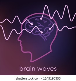 Brain waves vector concept
