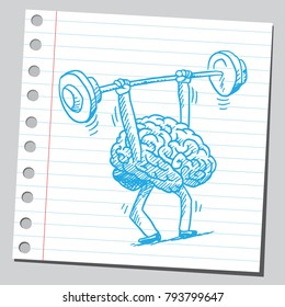 Brain workout (hard work concept)