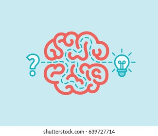 Brainstorm concept. Innovation and solution, vector illustration.